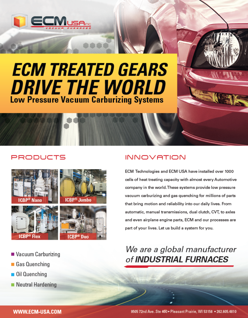 (Ad) ECM Treated Gears Drive the World