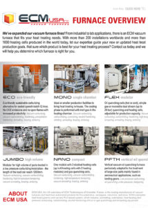 ECM Vacuum Furnace Lines with Application Chart
