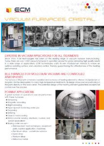 ECM Vacuum Furnace -CRISTAL